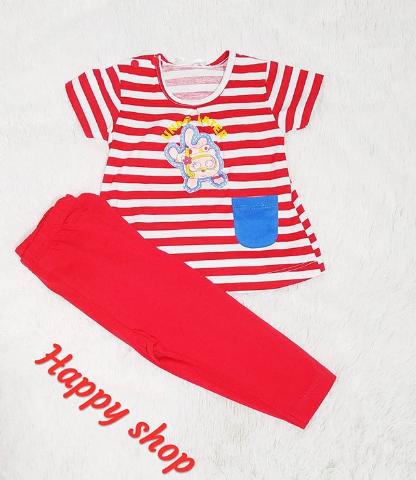 Комплект футболка и брюки красный для девочки