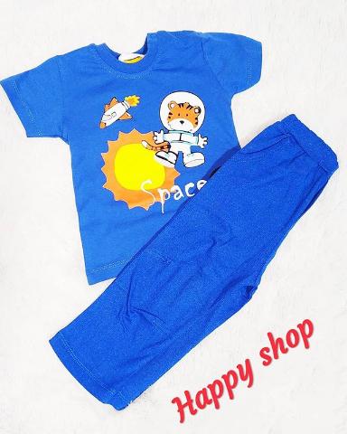 Комплект футболка и брюки синий для мальчика