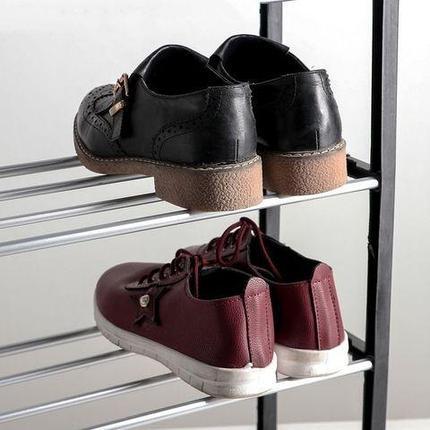 Полка обувная в 4 яруса «Доляна» {50 x 19 x 60 см} (Черный), фото 2