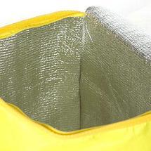 Сумка-холодильник складная на молнии «Термо Стоп» (Желтый / 23 литра), фото 2