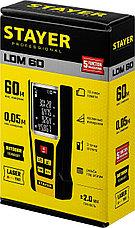 """Дальномер лазерный, """"LDM-60 """", дальность 60 м, 5 функций, STAYER Professional, фото 2"""