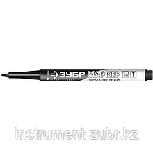 Перманентный маркер МП-100 черный, заостренный наконечник, ЗУБР