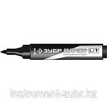 Перманентный маркер МП-300 черный, заостренный наконечник, ЗУБР