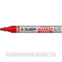 Маркер-краска МК-750 красный, круглый наконечник, ЗУБР