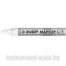 Маркер-краска МК-750 белый, круглый наконечник, ЗУБР