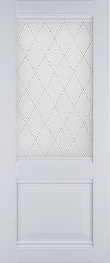 """Дверь межкомнатная остекленная """"Венеция"""" белый софт"""