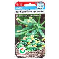 Семена Огурец 'Сибирский многодетный' F1, среднеспелый, партенокарпический, 7 шт (комплект из 10 шт.)