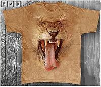 Детская футболка «Лев зевает» с рисунком 3d в Алматы