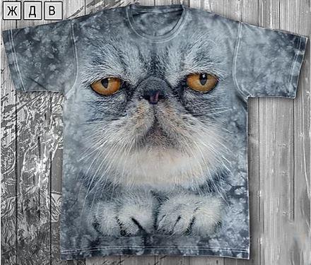 Детская футболка «Кот важный» с рисунком 3d в Алматы