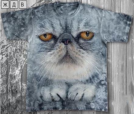 Детская футболка «Кот важный» с рисунком 3d в Алматы, фото 2