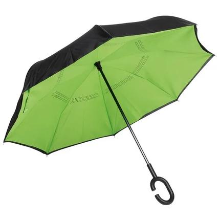 Зонт-трость FLIPPED зеленый, фото 2