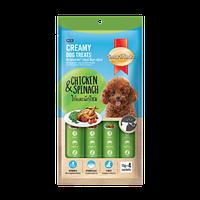 SmartHeart кремовое лакомство для собак, с курицей и шпинатом 4шт х 60gr