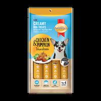 SmartHeart кремовое лакомство для собак, с курицей и тыквой 4шт х 60gr