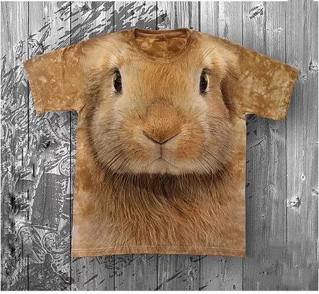 Детская футболка «Кролик» с рисунком 3d в Алматы, фото 2