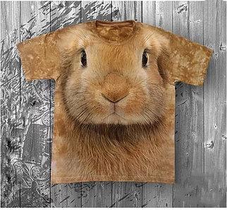 Детская футболка «Кролик» с рисунком 3d в Алматы