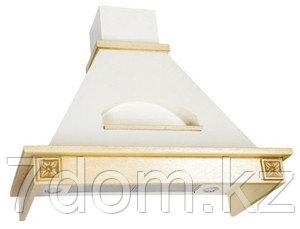 Вытяжка классика ELIKOR Бельведер Флореале 60П-650 беж/бук крем патина + золото