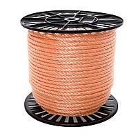 Канатное ограждение оранжевого цвета D 6мм