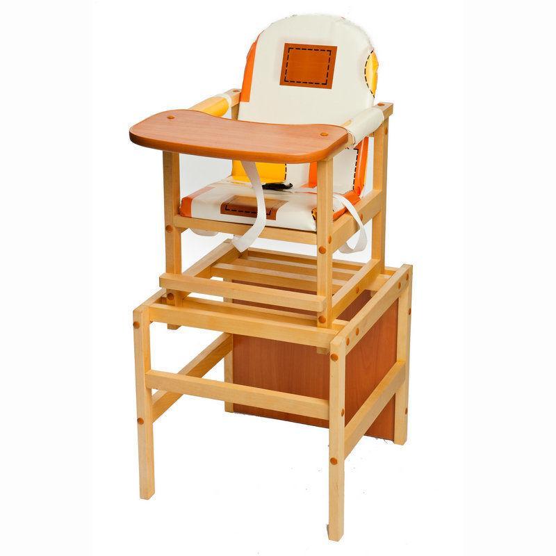 ПМДК стул-стол для кормления ОКТЯБРЕНОК Капучино Светлый орех