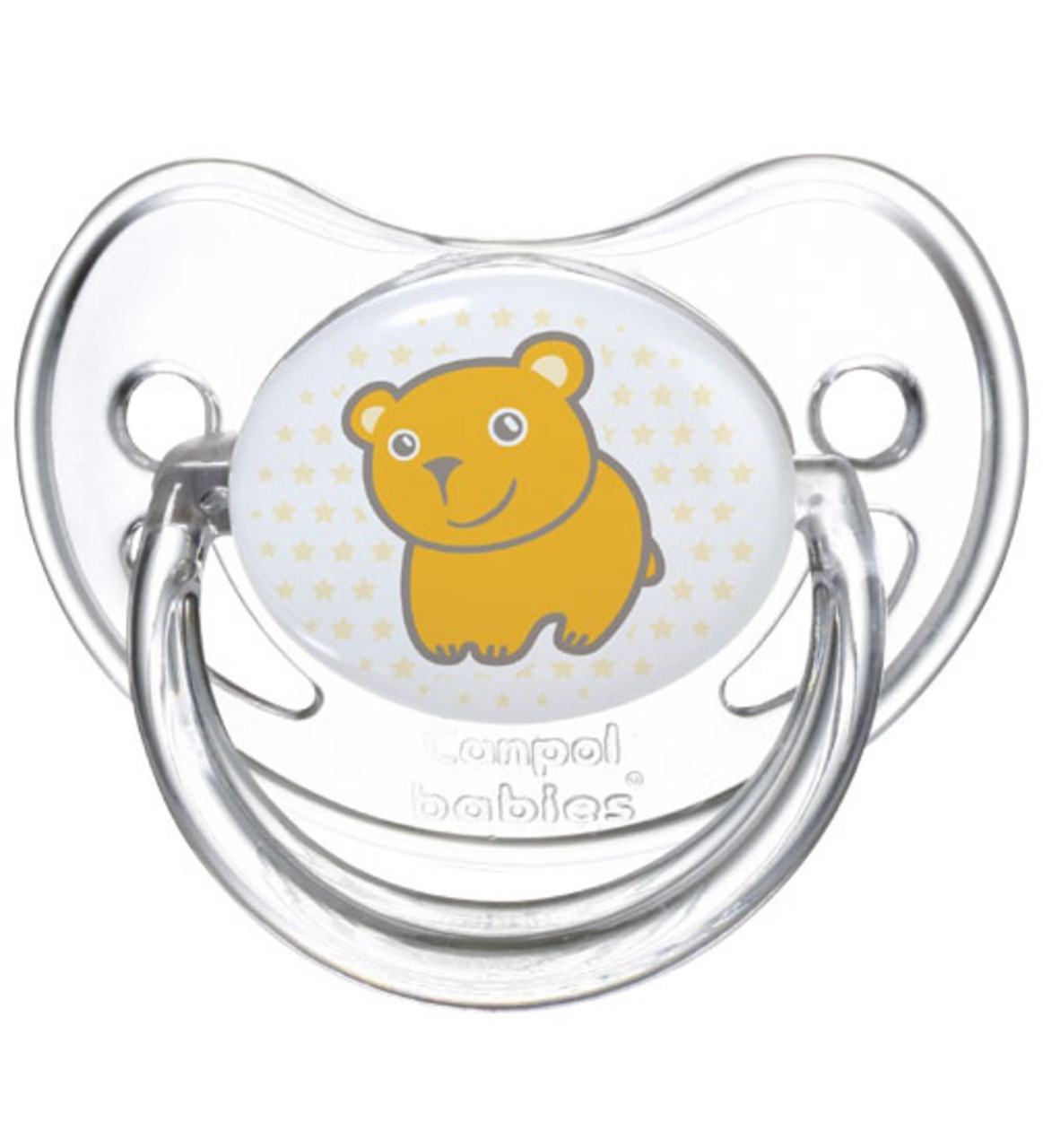 Canpol Соска-Пустышка Transparent (мишка) анатомическая силиконовая 6-18