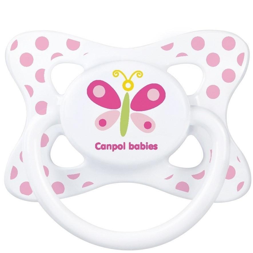 Canpol Соска-Пустышка Summertime (бабочка) 18+ симитричная силиконовая