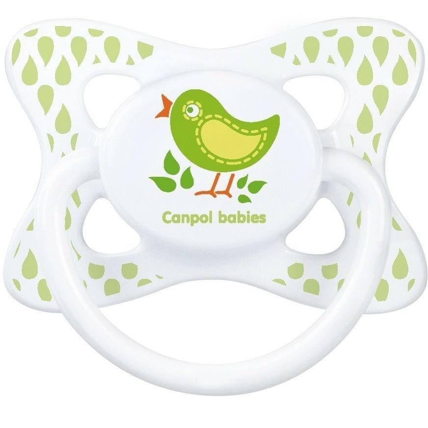 Canpol  Соска-Пустышка Summertime (птичка) 18+ симитричная силиконовая