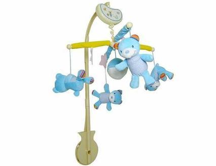 Музыкальный мобиль BIBA TOYS Wind up Musical Mobile голубой