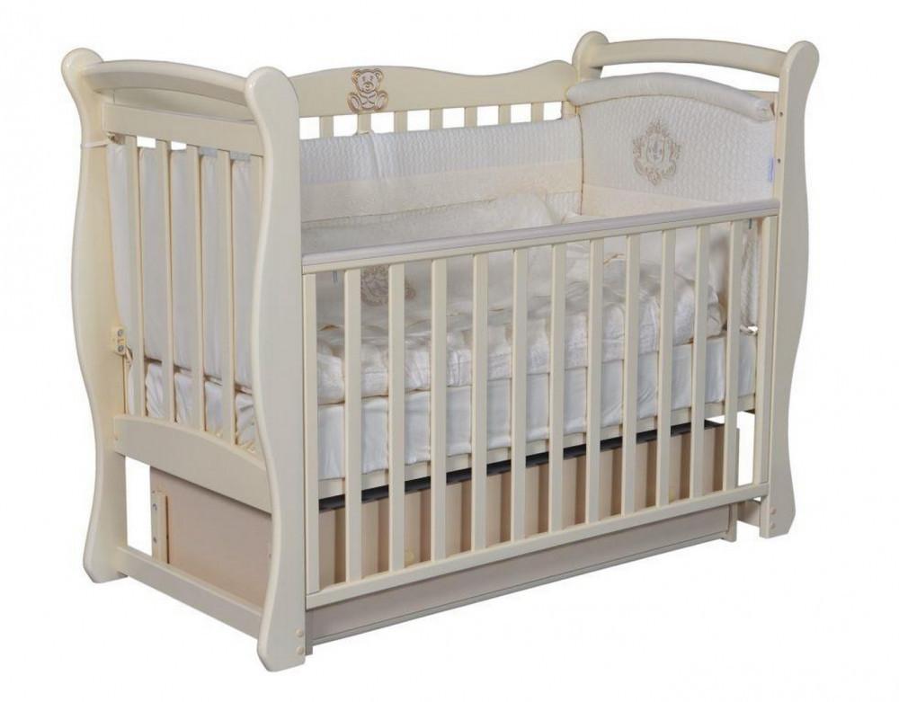 Кровать детская Julia-1 слон кость  Антел (наклейка в комплект не входит)