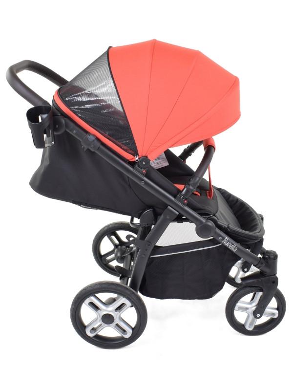 Прогулочная коляска Nuovita Modo Terreno (Rosso nero / Розово-черный)
