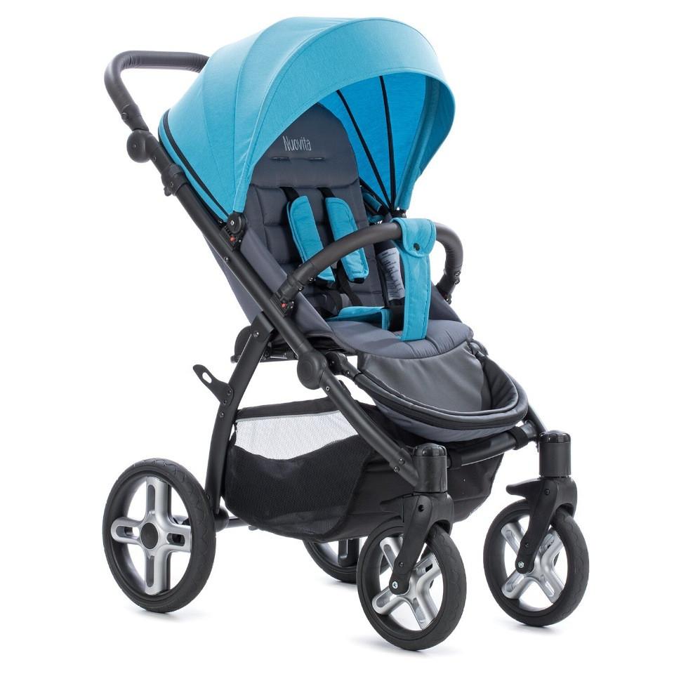 Коляска Прогулочная Nuovita Modo Terreno (Blu grigio/Сине-серый)