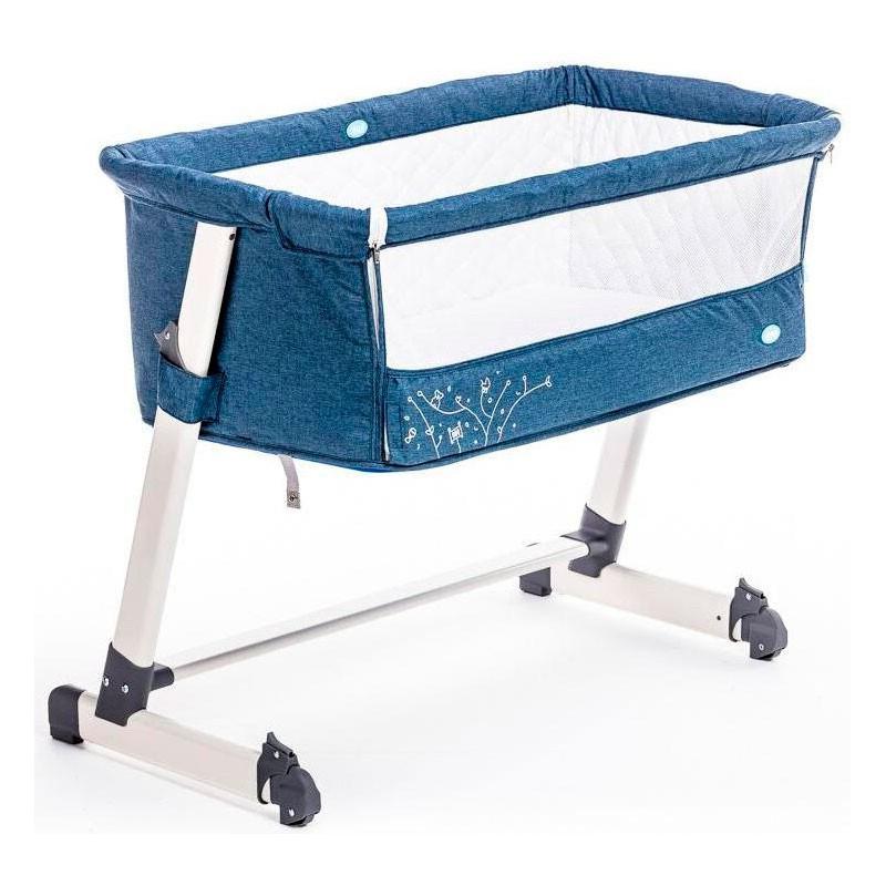 Детская приставная кроватка Nuovita Accanto (Blu scuro Lino/Темно-синий лён)