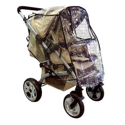 Дождевик для прогулочной коляски с окошком КАРАПУЗ