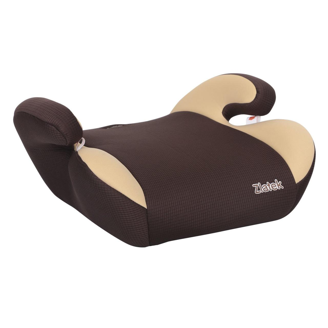 """Детское автомобильное кресло ZLATEK """"Gals"""" коричневый, 6-12 лет, 22-36 кг, группа 3 детское"""