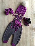 Вязанный комбинезон для девочки, фото 3