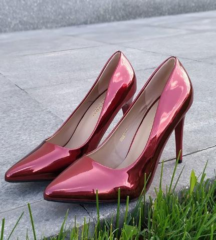 Женские туфли лакированные красные 36-40 размер