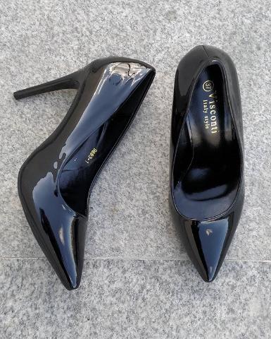 Женские туфли лакированные голубые 36-40 размер