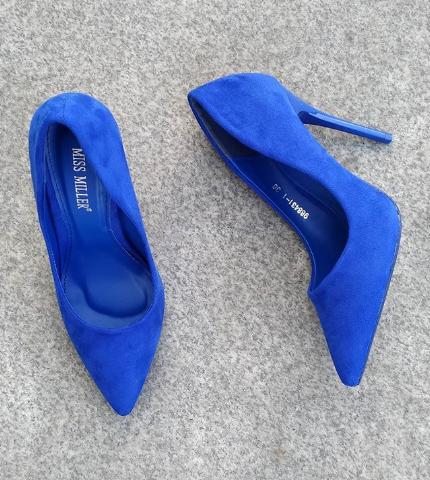 Женские туфли замшевые синие 35-40 размер