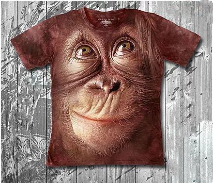 Детская футболка «Шимпанзе» с рисунком 3d в Алматы, фото 2