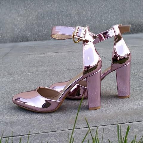Женские туфли лакированные розовые 36-40 размер