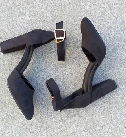Женские туфли замшевые черные 36-40 размер