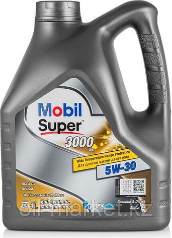 Моторное масло Mobil Super 3000 XE 5W-30 4л синтетическое, фото 2