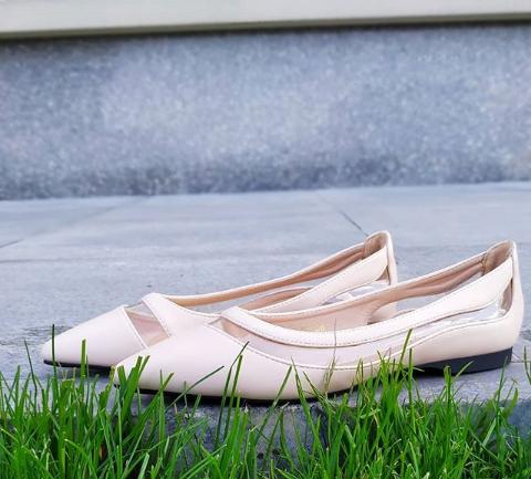 Женские бежевые балетки 36-40 размер