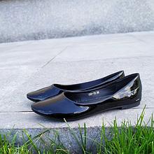 Женские лакированные черные балетки 36-41 размер