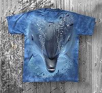 Детская футболка «Дельфин» с рисунком 3d в Алматы