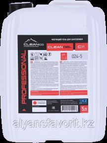 CLEANGEL C11 - средство для мытья унитазов и сантехники - гель .750 мл. и 5 литров.РК, фото 2