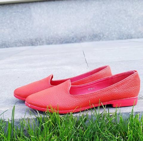 Женские красные балетки 35-40 размер