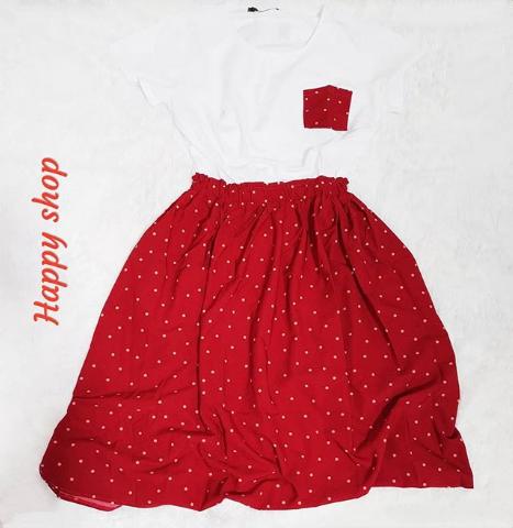 Платье летнее бело-красное