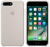 Cиликоновый чехол для iPhone 7 Plus (бежевый)