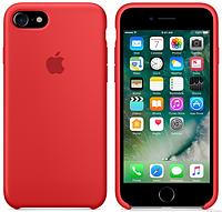Cиликоновый чехол для iPhone 7 (красный)