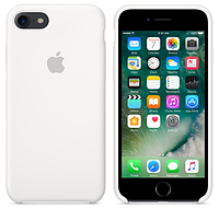 Cиликоновый чехол для iPhone 7 (белый)