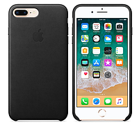 Кожаный чехол для iPhone 7 Plus (черный)